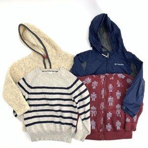Boys 4T Lot of 4 Jacket Sweater Hoodies Columbia